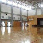 【第一体育館】 放課後はバレー部 バスケット部などが使用します 高い天井が自慢です